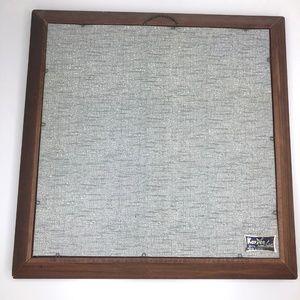 Vintage Wall Art - VTG Wood Framed Linen Print Nautical Boat Art R.B